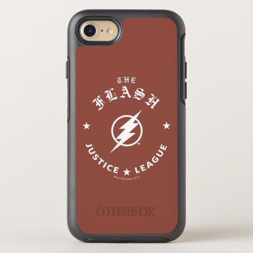 Justice League | The Flash Retro Lightning Emblem OtterBox Symmetry iPhone SE/8/7 Case