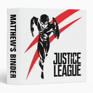 Justice League | The Flash Running Noir Pop Art Binder
