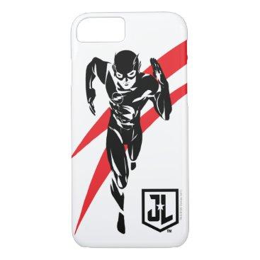 Justice League   The Flash Running Noir Pop Art iPhone 8/7 Case