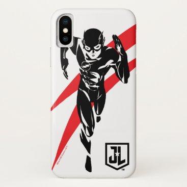 Justice League   The Flash Running Noir Pop Art iPhone X Case