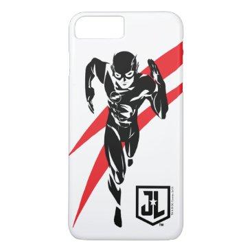 Justice League   The Flash Running Noir Pop Art iPhone 8 Plus/7 Plus Case