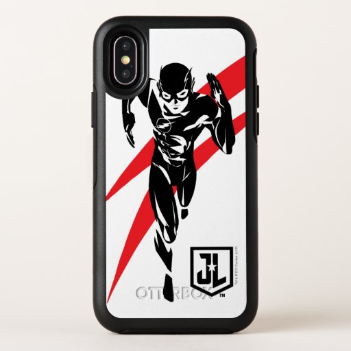 Justice League | The Flash Running Noir Pop Art OtterBox Symmetry iPhone X Case