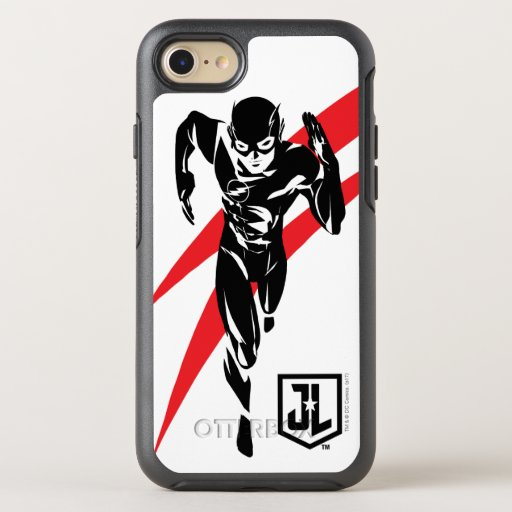 Justice League | The Flash Running Noir Pop Art OtterBox Symmetry iPhone SE/8/7 Case