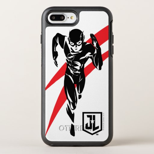 Justice League | The Flash Running Noir Pop Art OtterBox Symmetry iPhone 8 Plus/7 Plus Case
