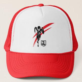 Justice League   The Flash Running Noir Pop Art Trucker Hat