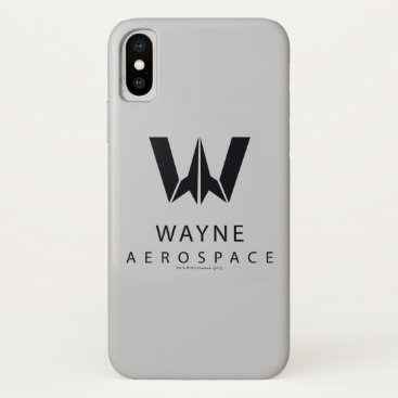 Justice League | Wayne Aerospace Logo iPhone X Case