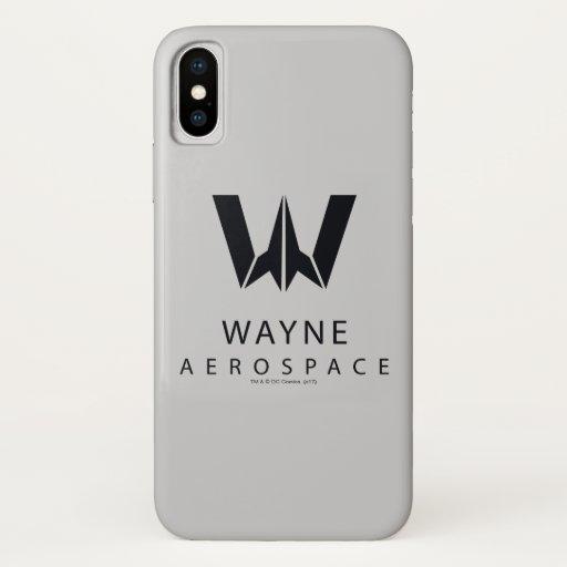 Justice League | Wayne Aerospace Logo iPhone X Case