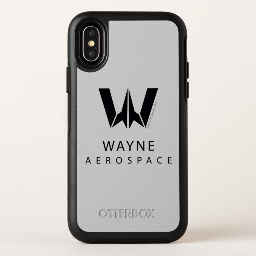 Justice League | Wayne Aerospace Logo OtterBox Symmetry iPhone X Case