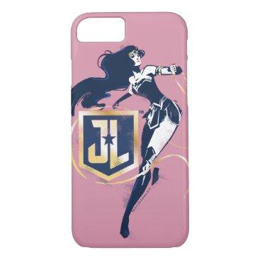 Justice League   Wonder Woman & JL Icon Pop Art iPhone 8/7 Case