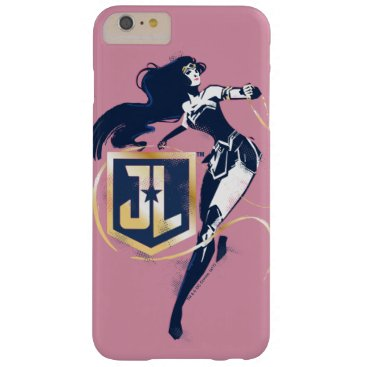 Justice League   Wonder Woman & JL Icon Pop Art Barely There iPhone 6 Plus Case