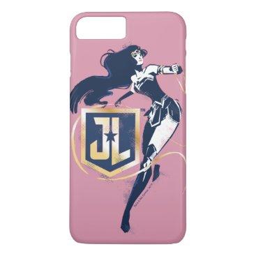 Justice League   Wonder Woman & JL Icon Pop Art iPhone 8 Plus/7 Plus Case