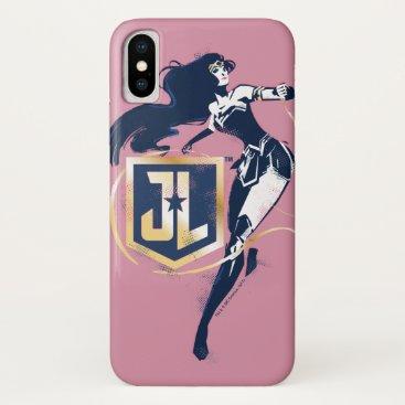 Justice League   Wonder Woman & JL Icon Pop Art iPhone X Case