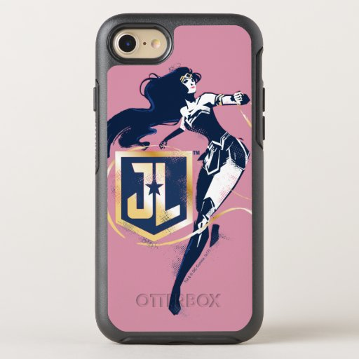 Justice League | Wonder Woman & JL Icon Pop Art OtterBox Symmetry iPhone SE/8/7 Case