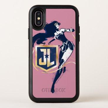 Justice League   Wonder Woman & JL Icon Pop Art OtterBox Symmetry iPhone X Case