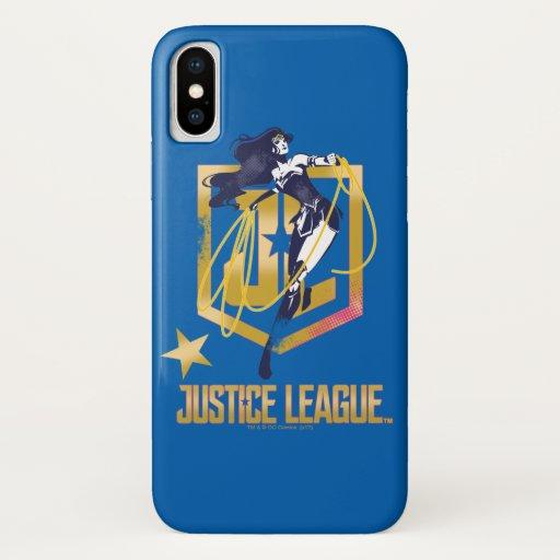 Justice League | Wonder Woman JL Logo Pop Art iPhone X Case