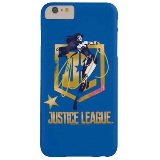 Justice League | Wonder Woman JL Logo Pop Art Barely There iPhone 6 Plus Case