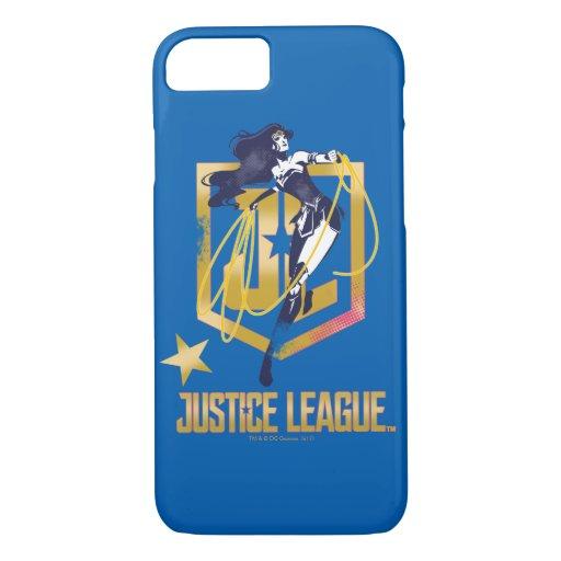 Justice League | Wonder Woman JL Logo Pop Art iPhone 8/7 Case