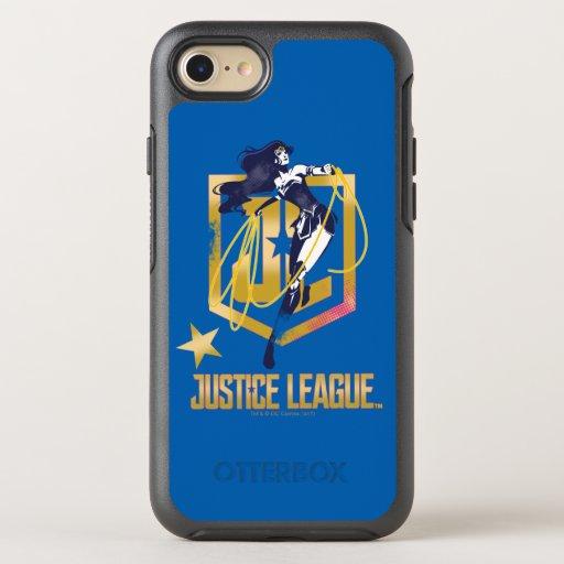 Justice League | Wonder Woman JL Logo Pop Art OtterBox Symmetry iPhone SE/8/7 Case