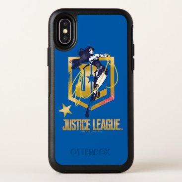 Justice League   Wonder Woman JL Logo Pop Art OtterBox Symmetry iPhone X Case