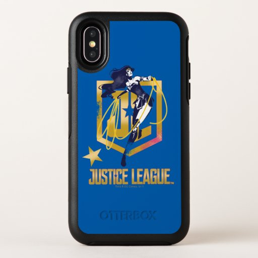 Justice League | Wonder Woman JL Logo Pop Art OtterBox Symmetry iPhone X Case