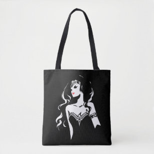 Justice League Wonder Woman Noir Pop Art Tote Bag