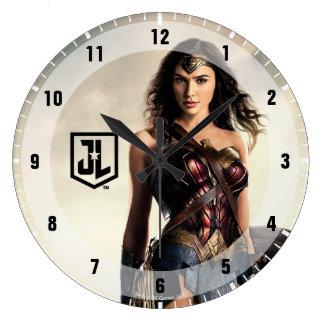 Justice League | Wonder Woman On Battlefield Large Clock