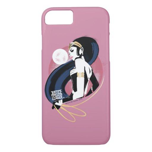 Justice League | Wonder Woman Profile Pop Art iPhone 8/7 Case