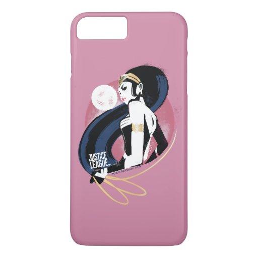 Justice League | Wonder Woman Profile Pop Art iPhone 8 Plus/7 Plus Case