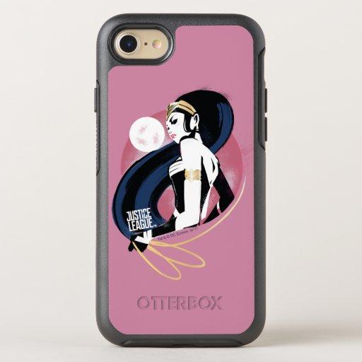 Justice League | Wonder Woman Profile Pop Art OtterBox Symmetry iPhone SE/8/7 Case