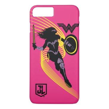 Justice League   Wonder Woman Silhouette Icon iPhone 8 Plus/7 Plus Case