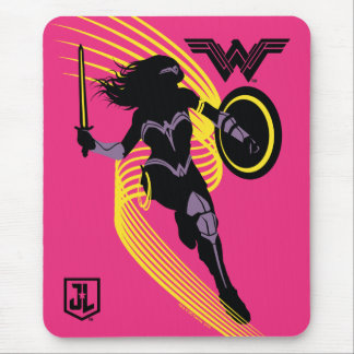 Justice League | Wonder Woman Silhouette Icon Mouse Pad