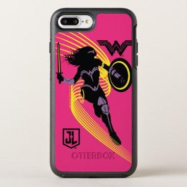 Justice League   Wonder Woman Silhouette Icon OtterBox Symmetry iPhone 8 Plus/7 Plus Case