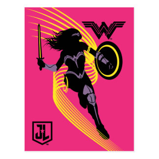 Justice League | Wonder Woman Silhouette Icon Postcard
