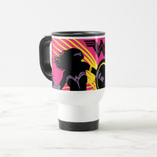 Justice League | Wonder Woman Silhouette Icon Travel Mug