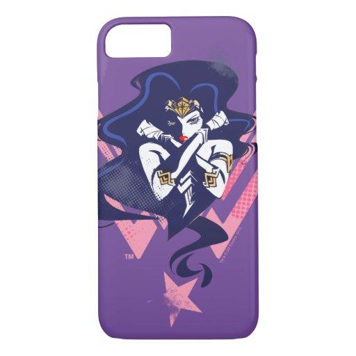 Justice League | Wonder Woman & Symbol Pop Art iPhone 8/7 Case