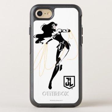 Justice League   Wonder Woman With Lasso Pop Art OtterBox Symmetry iPhone 8/7 Case