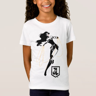 Justice League | Wonder Woman With Lasso Pop Art T-Shirt