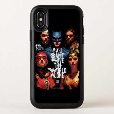 Justice League | You Can't Save The World Alone OtterBox Symmetry iPhone X Case