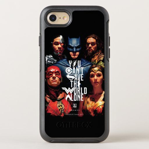 Justice League | You Can't Save The World Alone OtterBox Symmetry iPhone SE/8/7 Case