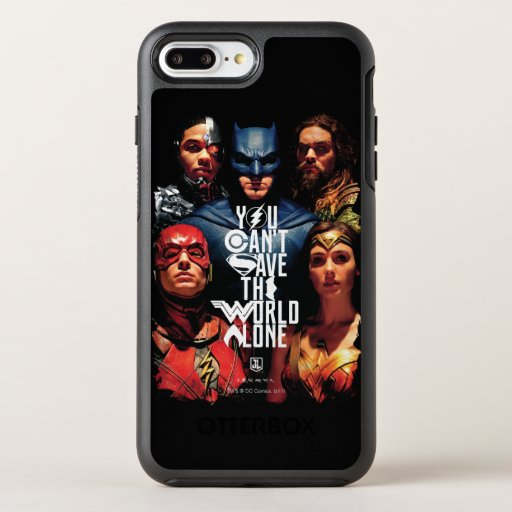 Justice League | You Can't Save The World Alone OtterBox Symmetry iPhone 8 Plus/7 Plus Case
