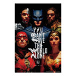 Justice League | You Can't Save The World Alone Poster at Zazzle