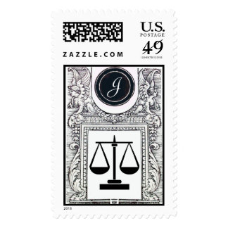 JUSTICE LEGAL OFFICE, ATTORNEY Monogram Postage