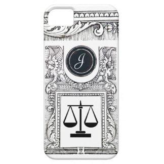 JUSTICE LEGAL OFFICE,ATTORNEY Monogram White iPhone SE/5/5s Case