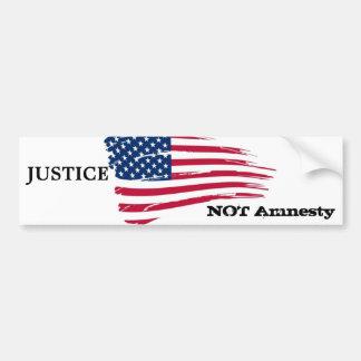 Justice not amnesty bumper sticker