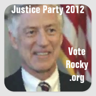 Justice Party 2012 Square Sticker