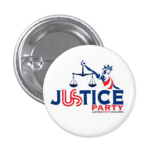 Justice Party Pinback Button