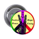 Justice & Peace_ Pinback Button