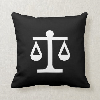 Justice Pictogram Throw Pillow