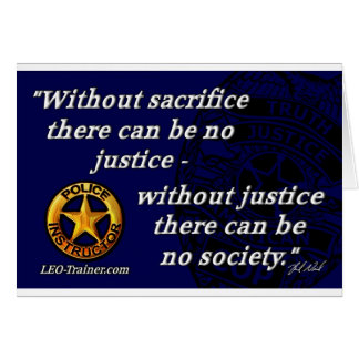 Justice Quote Greeting Card