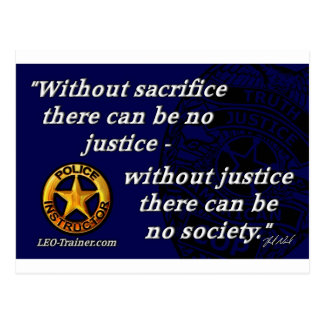 Justice Quote Postcard